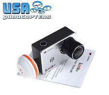 Walkera iLook+ 1080p HD FPV Camera with Built-In 5.8G Transmitter Clover Antenna