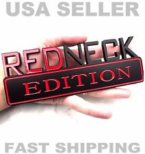 REDNECK EDITION car truck badge CHRYSLER EMBLEM logo BLK RED SUV SIGN ornament