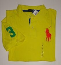 NEW MENS POLO RALPH LAUREN YELLOW  SHORT SLEEVE MESH SHIRT BIG PONY  3XB