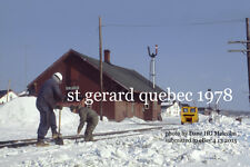 "Canadian Pacific Railway St Gerard Quebec  1978 4x6"" photo"