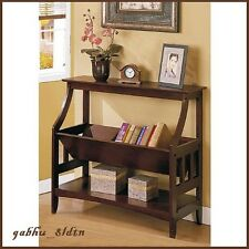 Hallway Table Bookshelf Entry Console Wood End Sofa Accent Furniture Display NEW