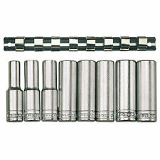 "Genuine Teng Tools 8 Piece 1/2"" Drive 12 Point Deep Metric Socket Set M1207"