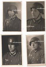 4 Original Portrait Fotos WH Soldaten mit Stahlhelm Modell  36 / 42    2. WK (2)