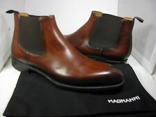 sz 10.5 NEW/ BOX MAGNANNI EMMITT Mens Chelsea cognac ankle pull-on Boots