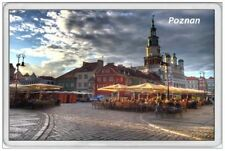 POZNAN - JUMBO FRIDGE MAGNET - POLAND STREET MARKET AT NIGHT POLISH POLSKA