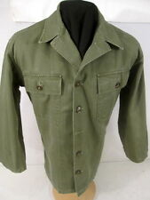 post-WWII US Army OD Green HBT Pattern 53 Combat Jacket Shirt 36 - NICE