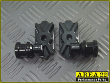 Area 22 Swingarm Spool Adapters / Mounts - BLACK - Kawasaki Z125 Pro 2016-