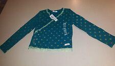 Naartjie 5 Longsleeve Sparkle Ballerina Glitter Star Wrap Shirt Hip Green NWT!