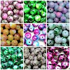 50 x 8mm Mottled Round Glass Marble Effect Beads Beading Craft * SELECT COLOUR *