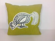 Adorable Eating Chicken Down Decorative Throw Pillow Green  Excellent  Condition
