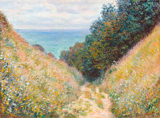 Road at La Cavee Pourville by Claude Monet A1 High Quality Art Print