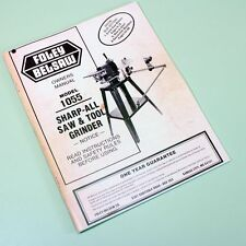 Belsaw 1055 Sharp All Saw Tool Grinder Owners Operators Repair Parts List Manual