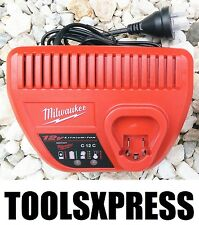 BRAND NEW MILWAUKEE M12 12V LI-ION RED LITHIUM BATTERY CHARGER - C12C - 12 VOLT