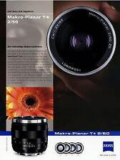 Prospekt Datenblatt Zeiss Kamera Objektiv Makro Planar T 2/50 2010 brochure lens