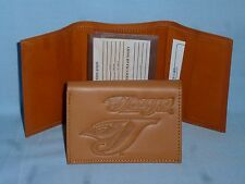 TORONTO BLUE JAYS   Leather TriFold Wallet   NEW!   tan  bb