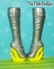 MONSTER HIGH FREAKY FUSION FRANKIE CLAWDEEN DOLL REPLACEMENT TALL BOOTS SHOES