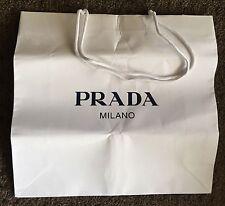 Prada Milano Paper Shopping Bag Jewellery Hand White Black Logo Large NEW