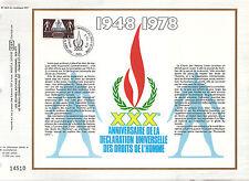 DOCUMENT CEF PREMIER JOUR 1978 30 EME ANNIVERSAIRE DES DROITS DE L HOMME