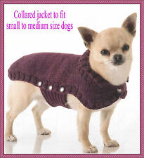 Knitting pattern for dog coat to fit small-large dgs