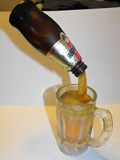 Vintage MICHELOB FAKE FOOD BAR DISPLAY FROZEN POURING BEER BOTTLE MUG Rare!
