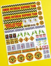 RC ZOMBIE OUTBREAK RESPONSE TEAM stickers decals Ideal for Tamiya Lunch Box!