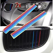 2x M Tri Color Grille Vinyl Strip Sticker Decal For BMW E46 E60 E39 M3 M5 E90