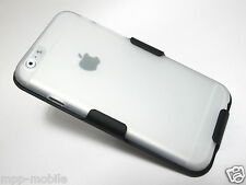 """FROSTED CLEAR SLIM GEL CASE with BELT CLIP HOLSTER for iPhone 6 4.7"""""""