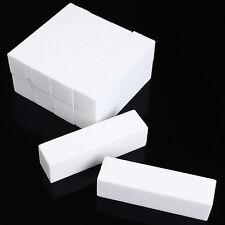 New 10 pcs White Nail Art Buffer Buffing Sanding Files Block Free shipping