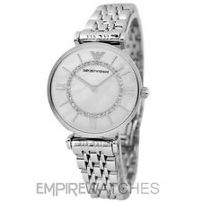 *NEW* EMPORIO ARMANI LADIES GIANNI SILVER T-BAR WATCH - AR1908 - RRP £279