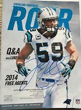 Luke Kuechly autographed Carolina Panthers PSL magazine, Signed