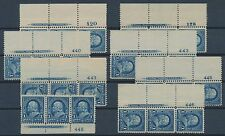 #264 VF // XF OG NH STRIP OF 3 WITH IMPRINT (8) DIFF. PLATE NO. CV $525 BR2198