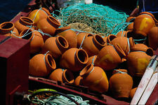 571096 Clay Pots Used As Fishing Net Floats Portugal A4 Photo Print