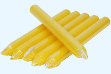 6x  6 x TAPERED DINNER CANDLES NON-DRIP & RUN LINE CANDLE INDIVIDUALLY WRAPPED
