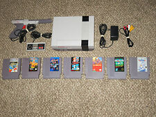 Nice Shape! Nintendo NES Console 8 Game Bundle Super Mario Bros Fast Shipping!