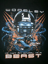 LAMARR WOODLEY #56 T SHIRT Animal Beast Pittsburgh Steelers Oakland Raiders