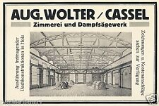Zimmerei & Sägewerk Wolter Kassel Reklame 1922 Zimmermann Dachkonstruktion Dach