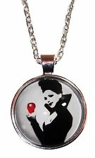 "Once Upon a Time EVIL QUEEN with APPLE Glass Dome PENDANT on 20"" Chain"