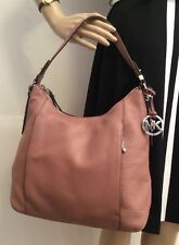 NWT MICHAEL KORS LARGE BOWERY DUSTY ROSE LEATHER SHOULDER HOBO BAG