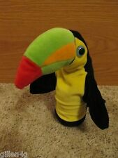 TUCAN BIRD PLUSH HAND PUPPET CUTE TEACHERS *LN