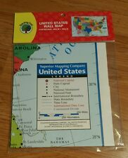 United States-US Wall Map Poster Size (40w x 28in H) Home Office School