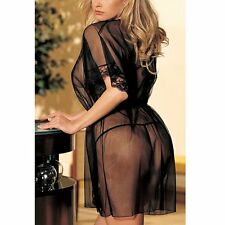 Women Sexy Lingerie Underwear Babydoll Sleepwear Sheer Lace Robe Dress G-string