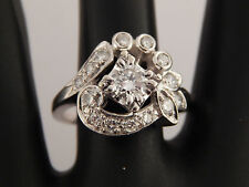 1.27 ct CUSTOM Unique Cocktail High Quality Diamond Ring F/VS1 14k WG Vintage