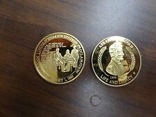 CHALLENGE COIN TOKEN ABRAHAM LINCOLN LIFE AND LEGACY EMANCIPATION PROCLAMATION
