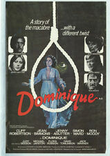 DOMINIQUE IS DEAD Movie POSTER 27x40 B Cliff Robertson Jean Simmons Jenny