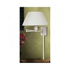 Wall Mounted Swing Arm Lamp Bedside Office Reading Lighting Sconce Shade Plug In