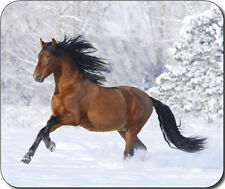 Horse Running Snow Large Mousepad Mouse Pad Great Gift Idea