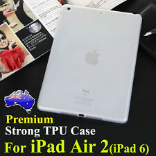 Premium Strong Clear TPU Silicon Case Cover For iPad Air 2(iPad 6)Thin Skin