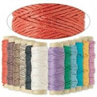 348' 3-Ply .5mm Thin Polished Hemp Cord String 12 Spools Assorted Mixed Colors