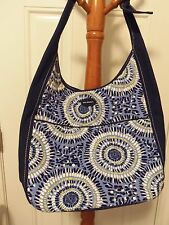 VERA BRADLEY LIMITED EDITION STARRY NIGHT CANVAS COLLECTION TIE TOTE EXCELLENT