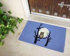 owl DOORMAT PURPLE Halloween fall Full Moon front door mat floor rubber LUNA New